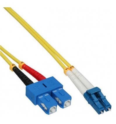 LC-SC Fiber Optic Single Mode Cable Duplex OS2 9/125 OFNR