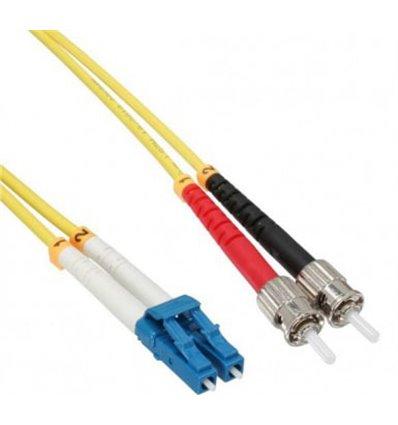 LC-ST Fiber Optic Single Mode Cable Duplex OS2 9/125 OFNR