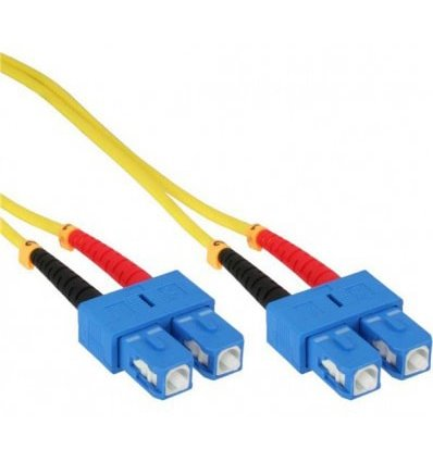 SC-SC Fiber Optic Single Mode Cable Duplex OS2 9/125 OFNR