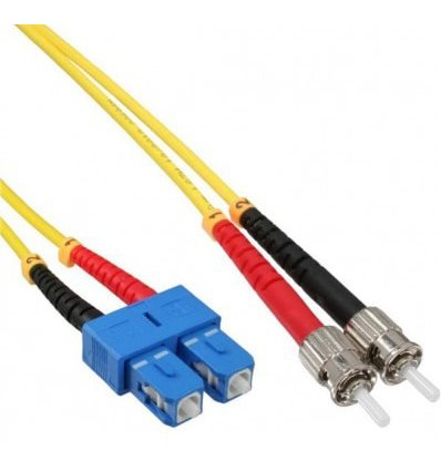 SC-ST Fiber Optic Single Mode Cable Duplex OS2 9/125 OFNR
