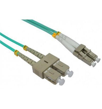 LC-SC Fiber Optic Multimode Cable Duplex OM3 50/125 OFNR