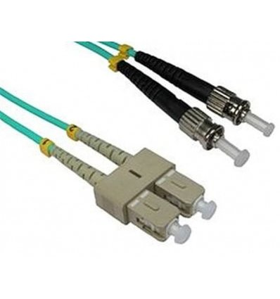 SC-ST Fiber Optic Multimode Cable Duplex OM3 50/125 OFNR