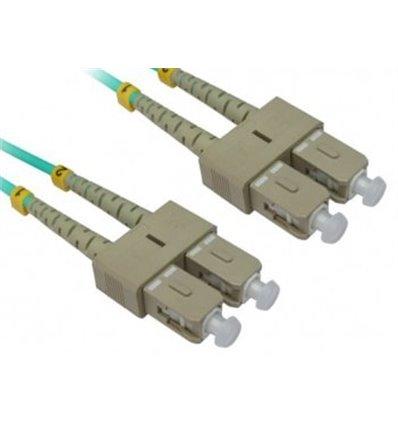 SC-SC Fiber Optic Multimode Cable Duplex OM4 50/125 OFNR