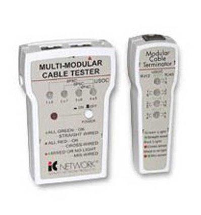 Multi Modular Cable Tester, RJ11/RJ12/RJ45