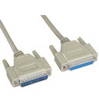 DB25 Serial Cable Male to Female Straight