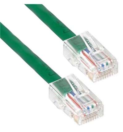 0.5Ft Cat5e Plenum Ethernet Cable Green