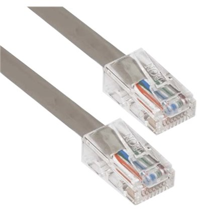 10Ft Cat5e Plenum Ethernet Cable Grey