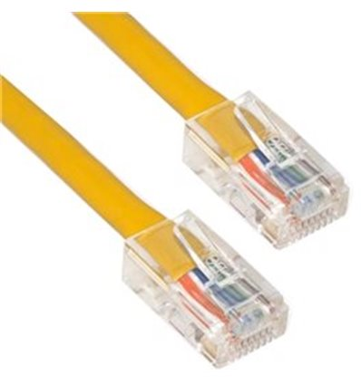 25Ft Cat5e Plenum Ethernet Cable Yellow