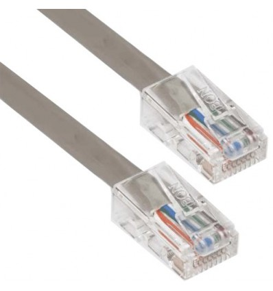 0.5Ft Cat6 Plenum Ethernet Cable Grey