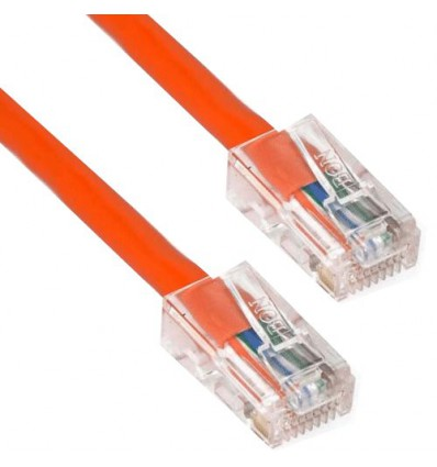 1Ft Cat6 Plenum Ethernet Cable Orange