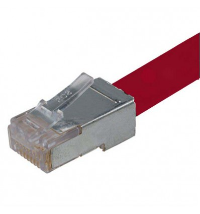 250Ft Cat6 Ethernet Shielded Cable Red